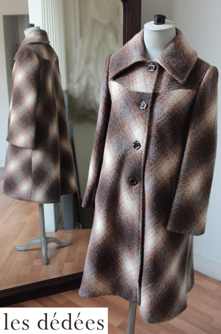 les dedees vintage recup creations le petit manteau so vintage a losanges by ben. Black Bedroom Furniture Sets. Home Design Ideas