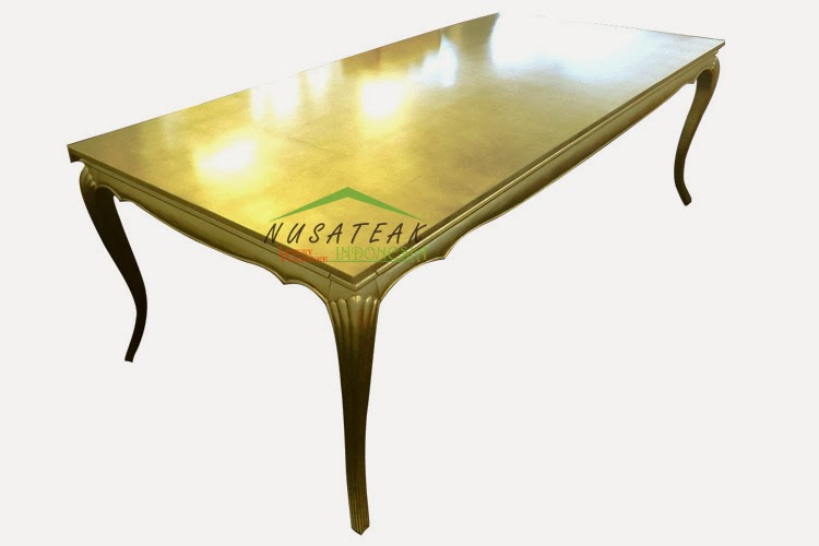 Florence French Gold Leaf Dining Table Luxury Furniture From