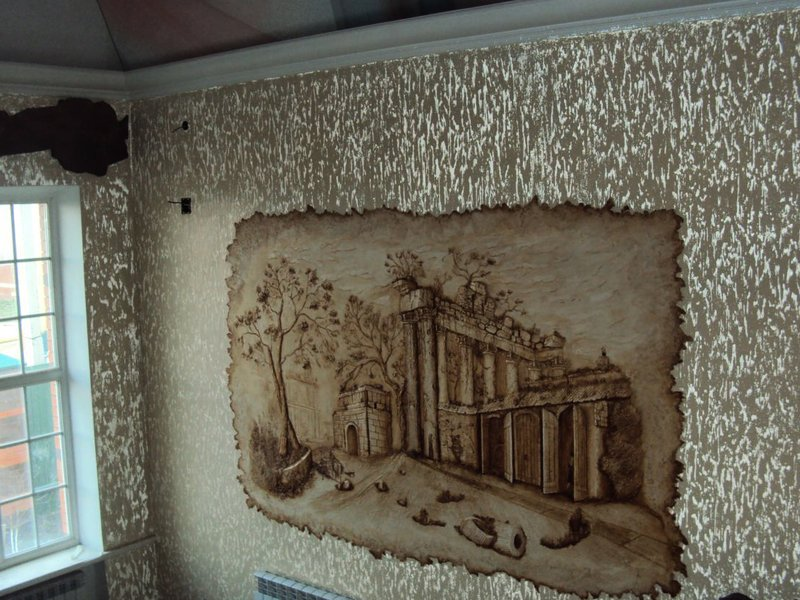 Декоративное панно по штукатурке стен своими руками