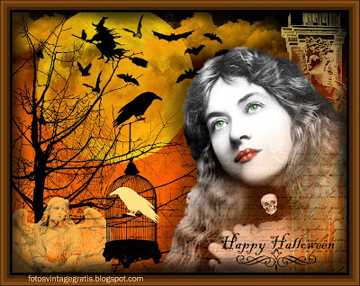collage vintage de Halloween