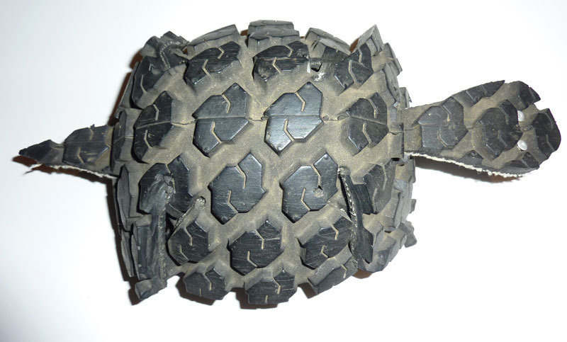 how to make tire art