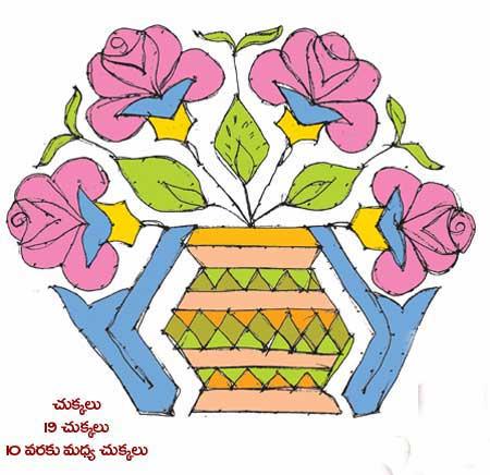 Rangoli Designs with Colours