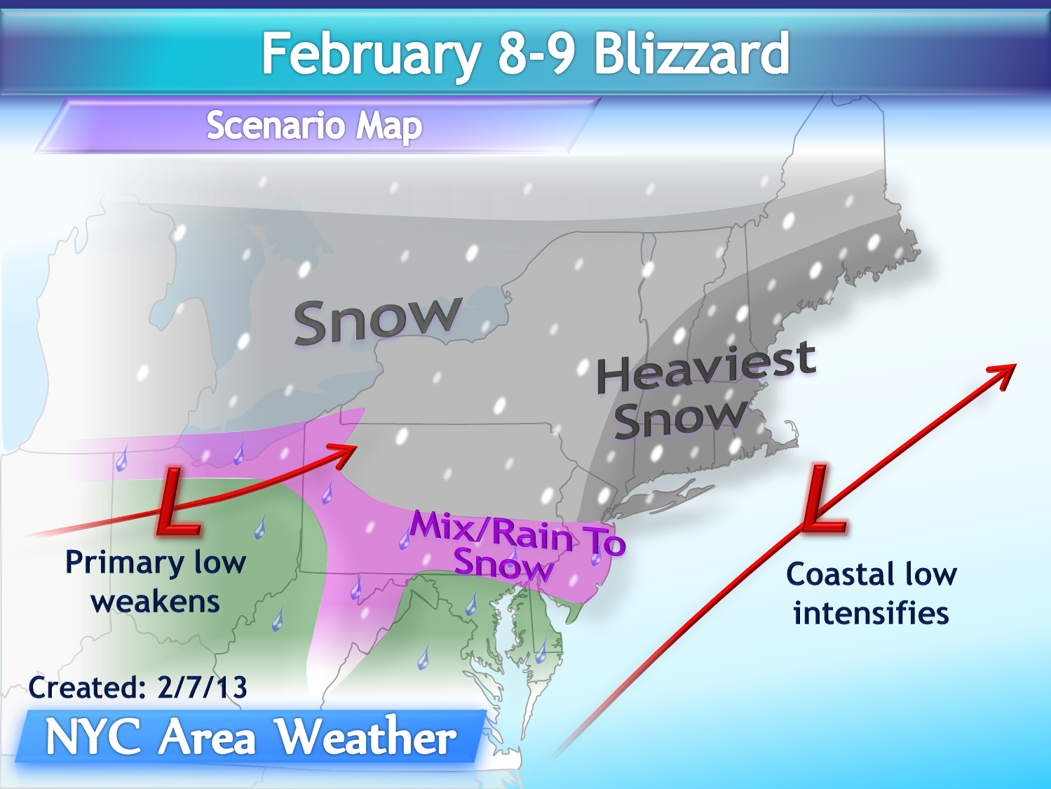 after a relatively inactive winter so far the first blizzard in over 2 years since january 2011 will affect the area on friday night with heavy snowfall