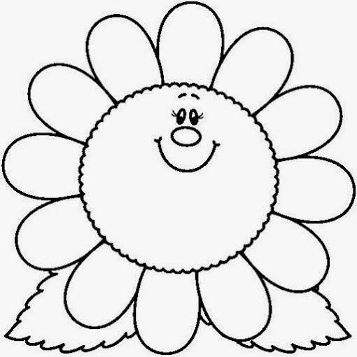 Maestra de Infantil Plantas y flores para colorear igual que un