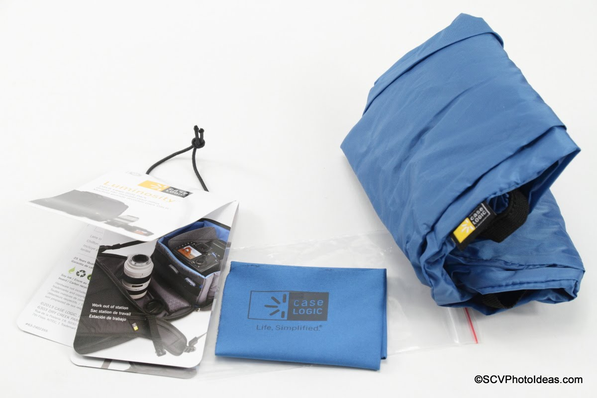 Case Logic DSB-103 Tag - Cleaning cloth - Rain cover