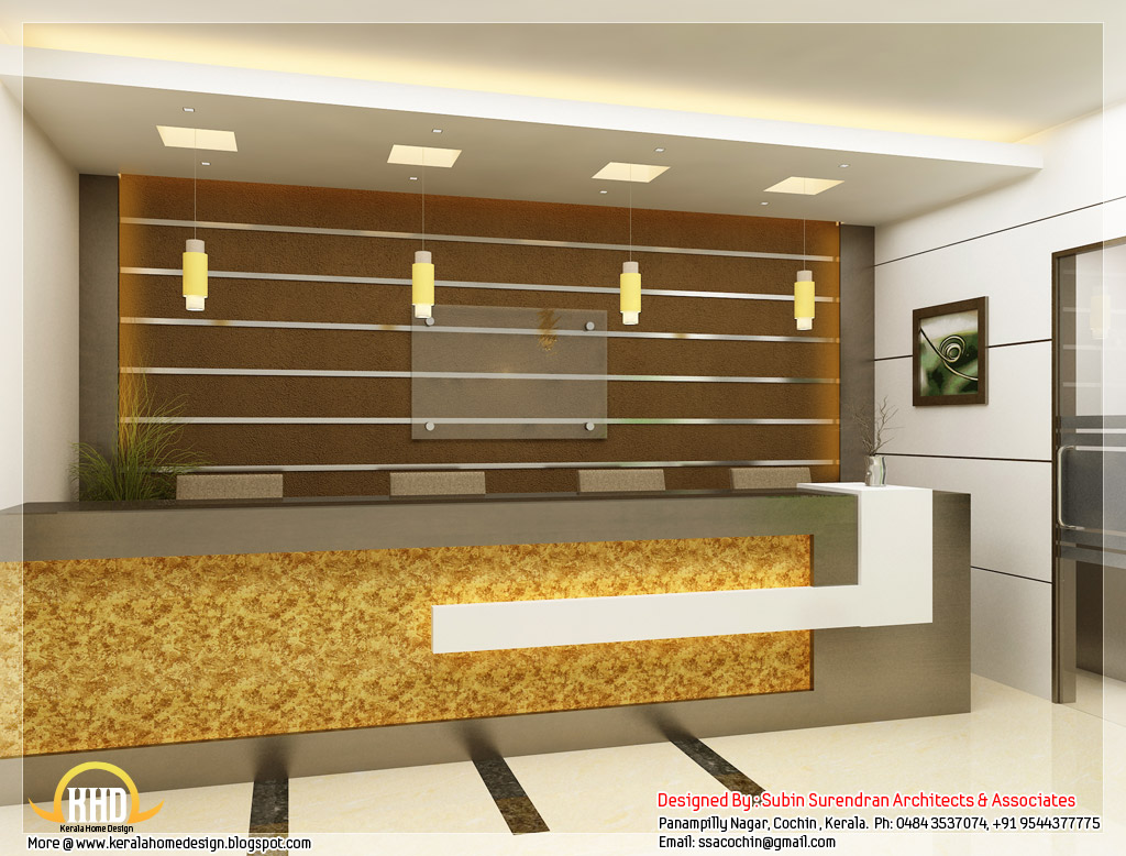 Beautiful 3d interior office designs indian home decor Office design 3d
