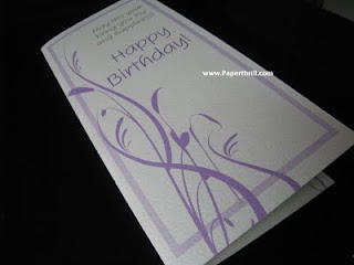 Sweet purple birthday card