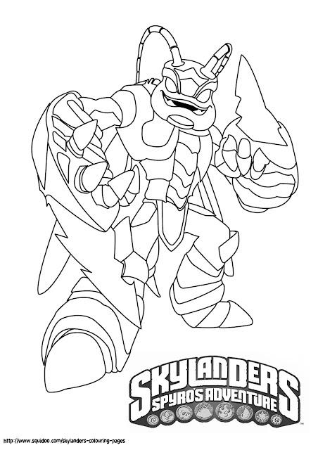 good skylanders coloring pages title=