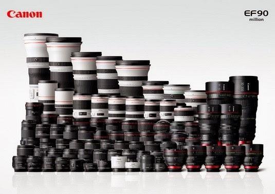 Lensa EF Canon 90 juta unit