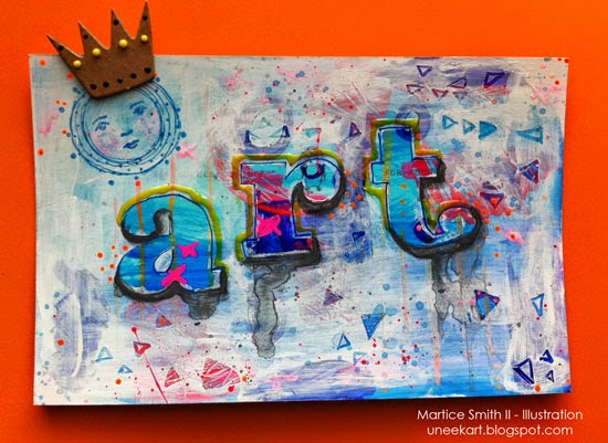 mixed media art postcard by Martice Smith II