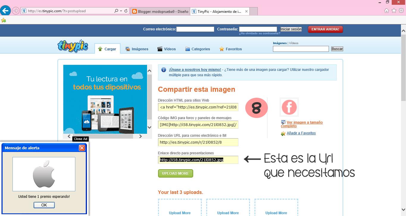 Colocar instalar botones redes sociales blogger blog facebook instagram