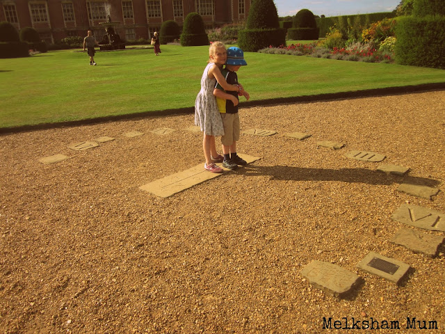 Interactive sun dial at Blickling Hall