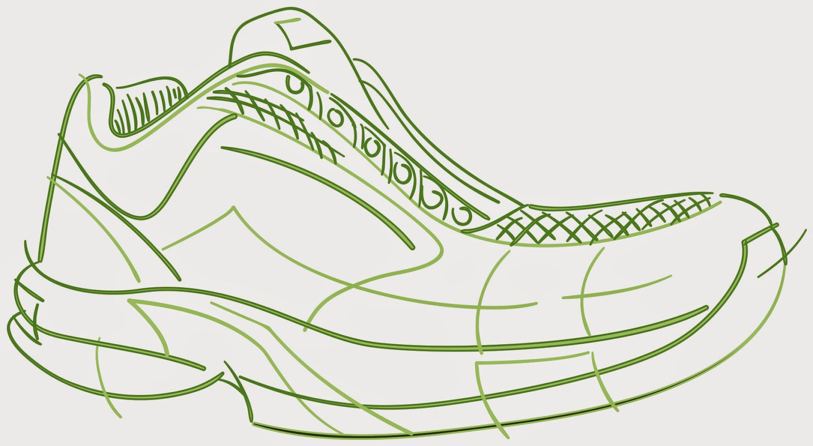 Gallery For Nike Shoe Outline