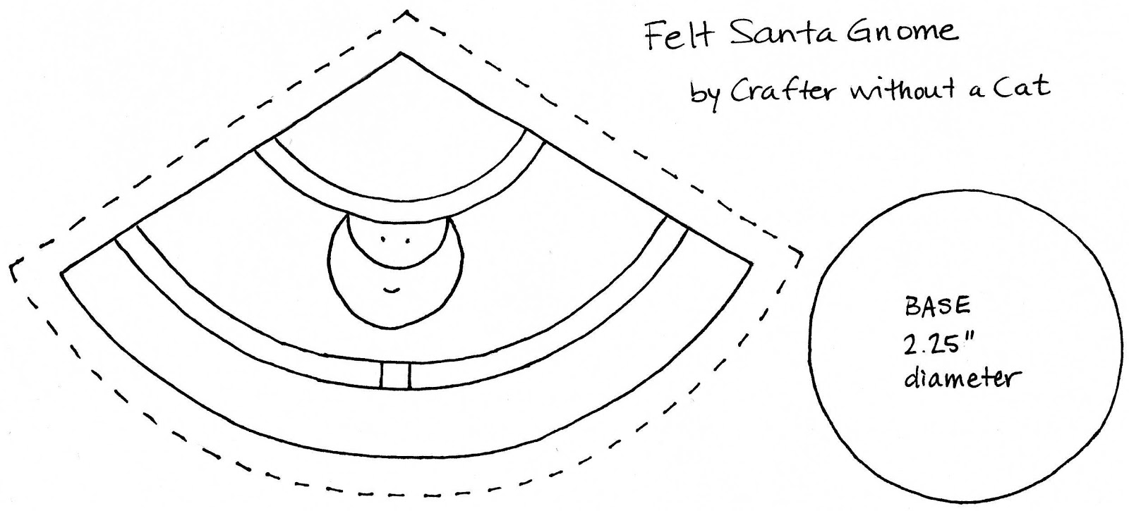 crafter without a cat santa gnome pattern
