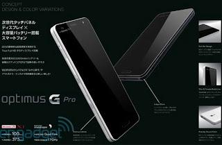 Smartphone Lg Optimus G Pro Dengan Layar 5 Inci Terungkap