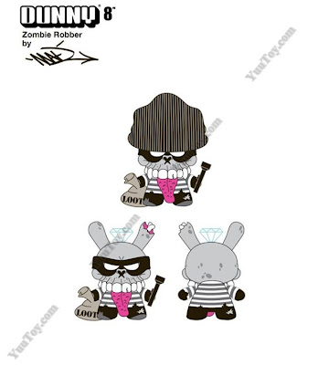 Kidrobot - Zombie Robber 8 Inch Dunny by MAD