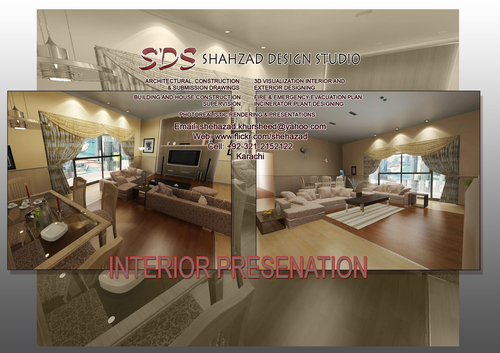 3d max autocad vray render exterior interior for A d interior decoration contractor