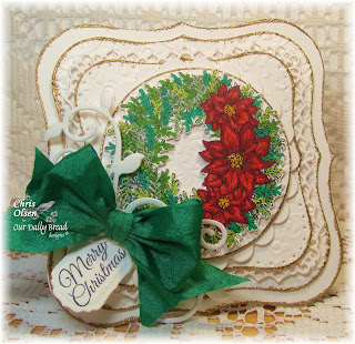 Stamps - Our Daily Bread Designs Poinsettia Wreath, ODBD Custom Circle Ornaments Die, ODBD Fancy Foliage Die