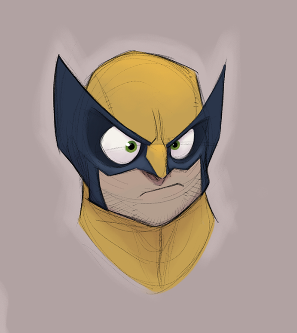Retratos caricaturescos de los X-Men