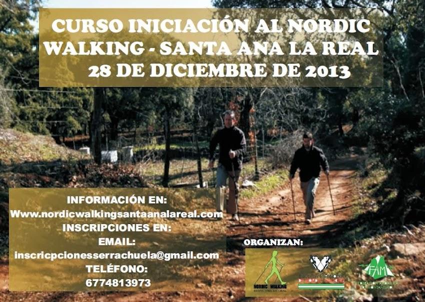 CURSO INICIACIÓN AL NORDIC WALKING - SANTA ANA LA REAL 28/12/2013