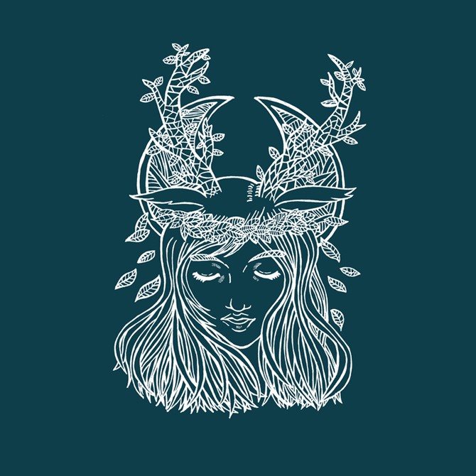 The Forest Princess Illustration Printed on Merchandise Illustration by Haidi Shabrina