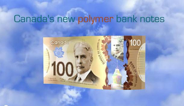 El Banco de Canadá comenzará a emitir nuevos billetes de plástico, para sustituir a los de papel.