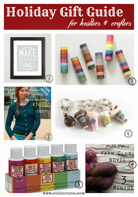 Holiday Gift Guide for Knitters and Crafters: Cobberson.com