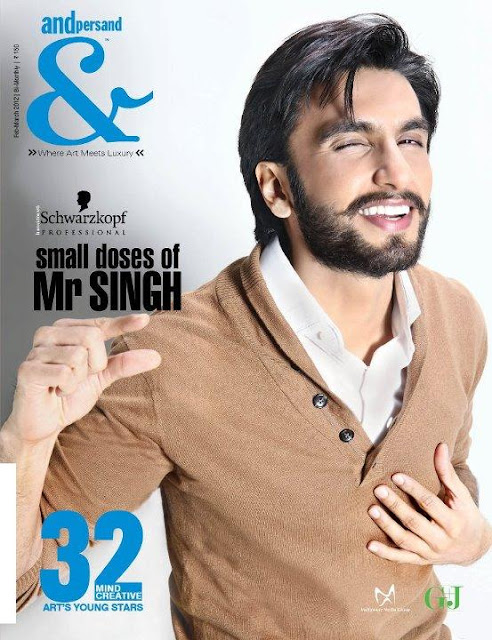 Ranveer Singh Beard on the Cover of Andpersand May 2012