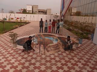 3D street painting India's Got Talent, 3D chalk painting IGT, 3D painting IGT India's Got Talent, 3D street Artist India's Got Talent