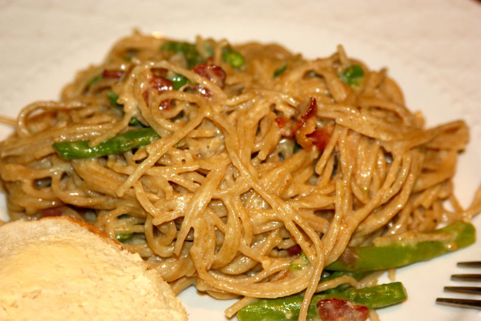 Asparagus Carbonara Recipe — Dishmaps