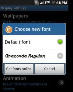 mengganti font di android