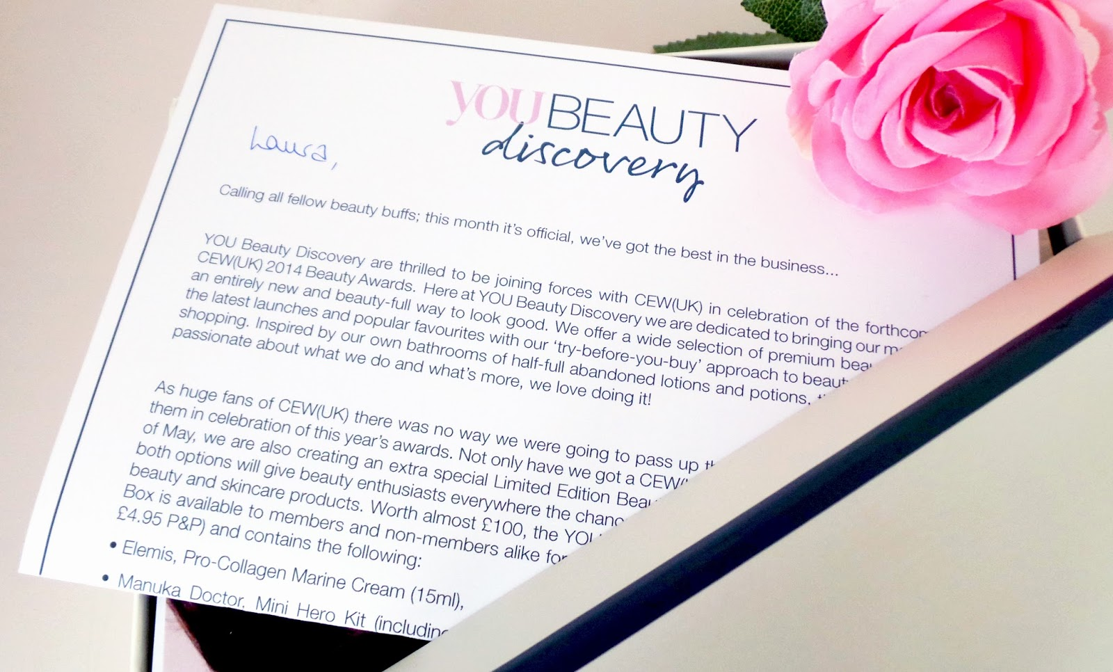 You Beauty Discovery Box, You Beauty Limited Edition Discovery Box (CEW Beauty Awards 2014) May 2014, Beauty Box Review, Beauty Boxes, Best Beauty Boxes UK