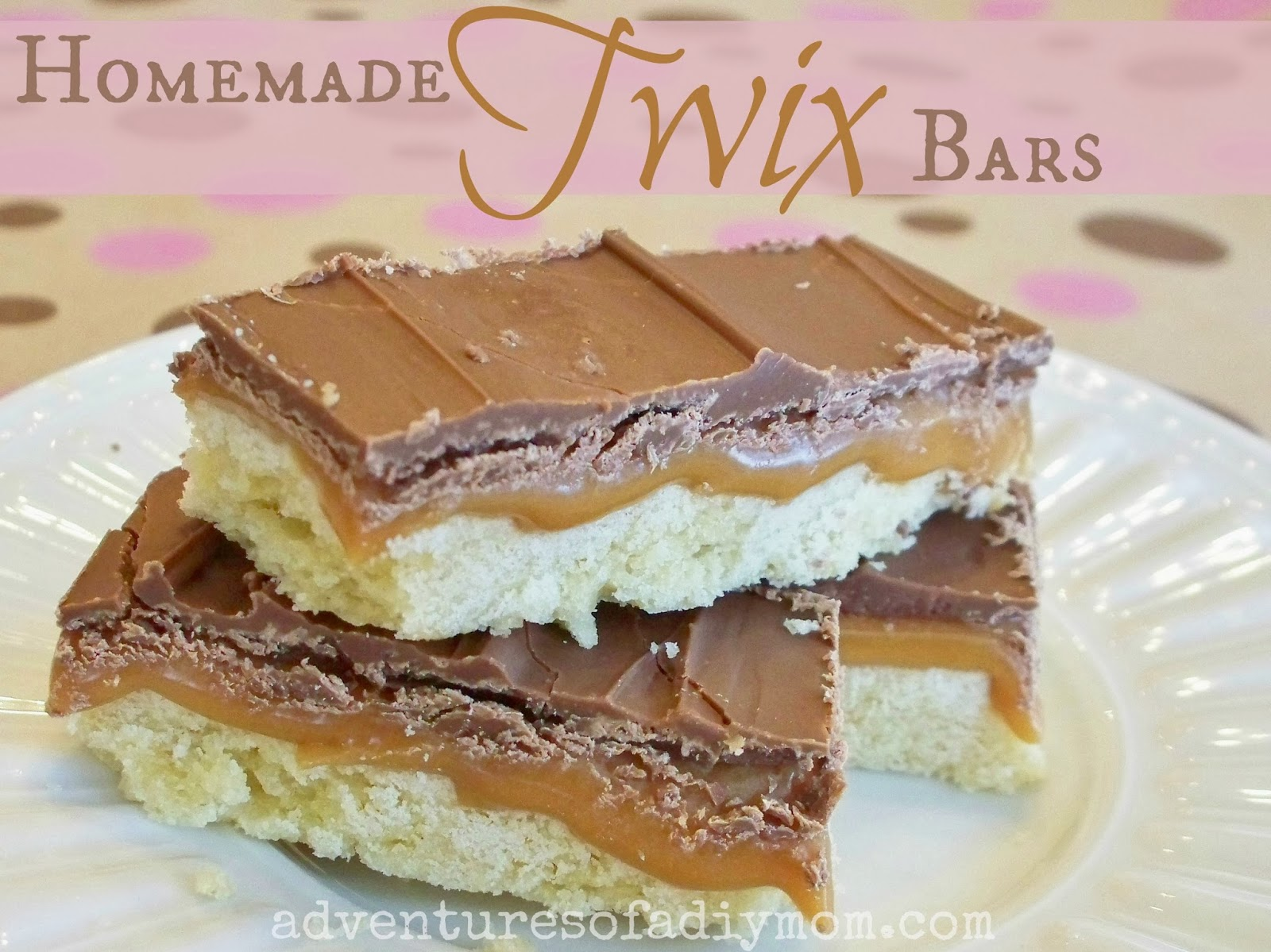 Adventures of a DIY Mom: Homemade Twix Bars Recipe