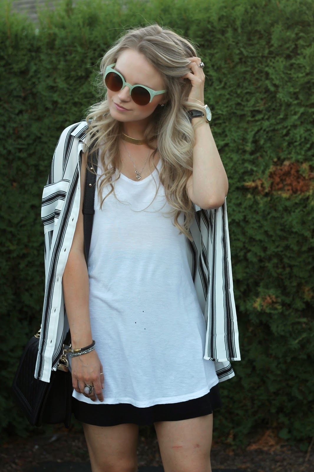 stripe blouse