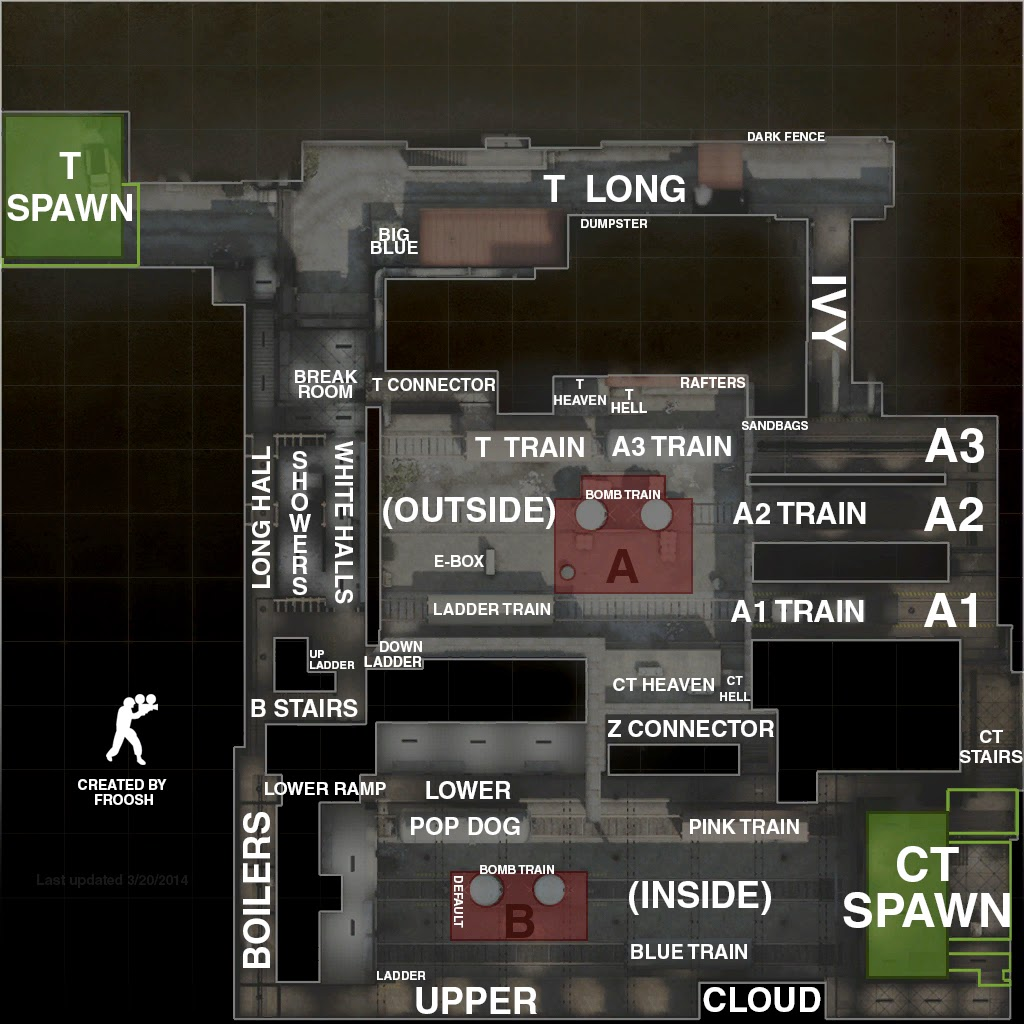 Train Parts Names : Cs go array competitive map call outs