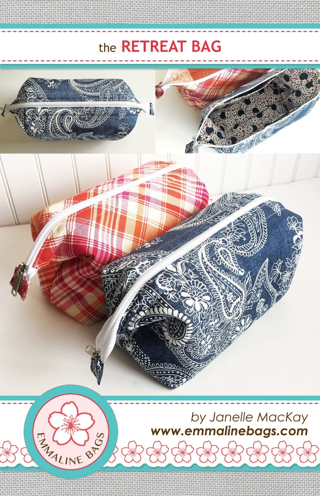 Emmaline bags sewing patterns and purse supplies the retreat bag the retreat bag a free sewing tutorial jeuxipadfo Image collections