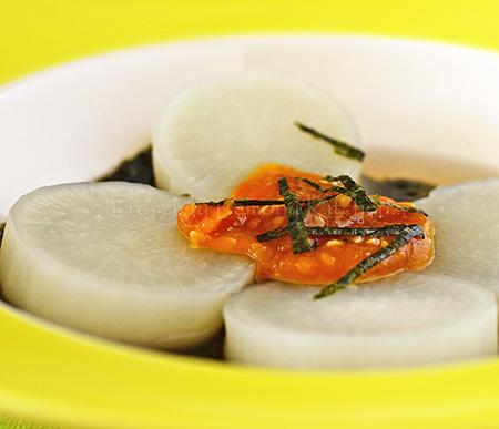 white-radish in sesame-miso-sauce