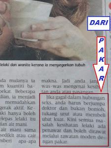 RUJUK DR PAKAR ISU SEK SUAMI ISTERI BUKAN BOMOH,TUKANG URUT ATAU BELI UBAT KUAT.METRO AHAD 3MAC2013