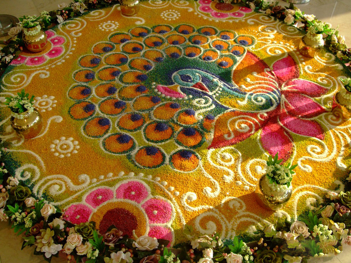 Latest fashion trends latest beautiful rangoli designs for Current wallpaper trends 2016