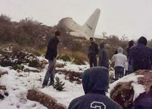 Algerian military plane crashes into mountain, 77 killed