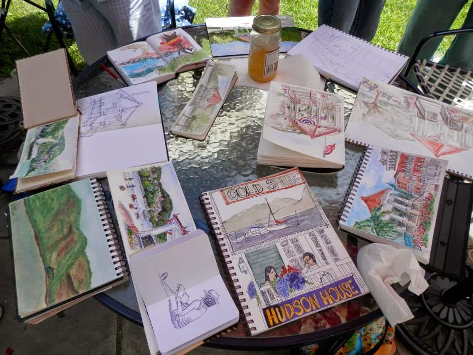 sketching in cold spring new york
