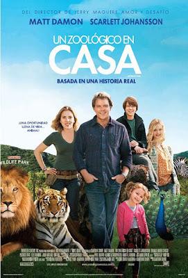 Poster Un Zoológico en casa con Matt Damon y Sacrlett Hohansson