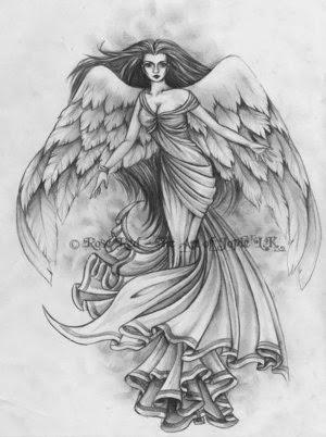 very popular angels tattoos
