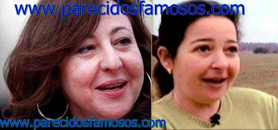 Carmen Machi con Mari Carmen Moraira