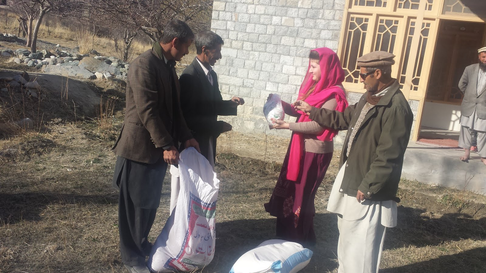 TASNEEM HELPING IN DISTRIBUTION