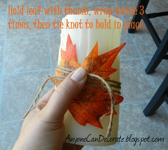 Easy Peasy Fall Candle Decor