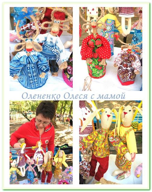 Тильдо куклы в русских нарядах