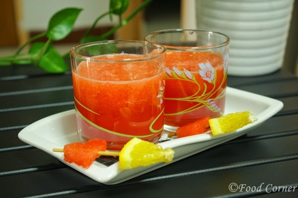 Summer Treats to Beat the Heat-Watermelon and Orange Juice