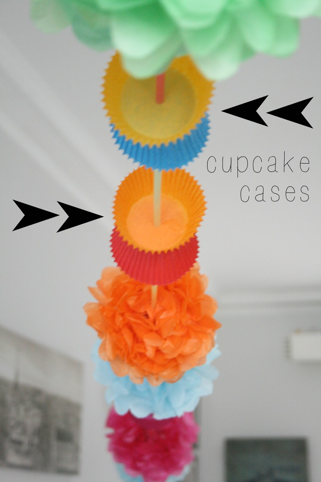 The craft revival make a paper garland using cupcake wrappers make a paper garland using cupcake wrappers straws and tissue paper jeuxipadfo Gallery