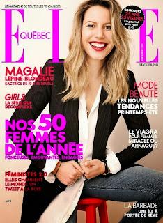Magalie Lépine Blondeau Elle Quebec Canada Magazine Cover February 2014 HQ Scans